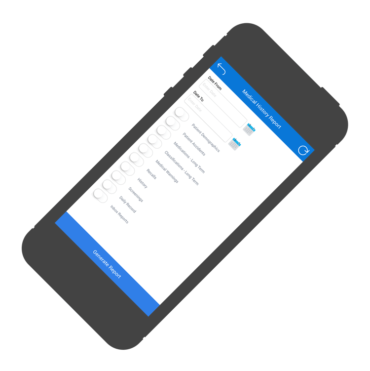 Medtech Mobile App, Patient Medical Records