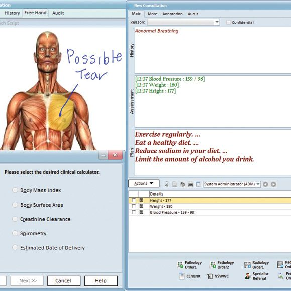 clinical interface