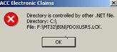 PDOXUSRS.LCK error